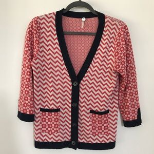 Margaret O'Leary Contrast Patterned Cardigan